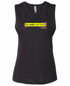 florescent yellow impeccable neon streetwear tank top for women
