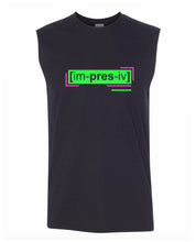 Load image into Gallery viewer, florescent green impressive men's sleeveless tee tank top