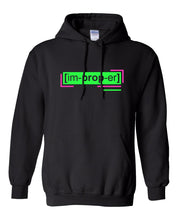 Load image into Gallery viewer, neon green florescent improper streetwear hoodie