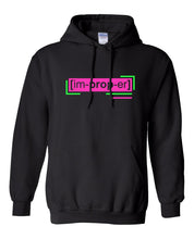 Load image into Gallery viewer, neon pink florescent improper streetwear hoodie