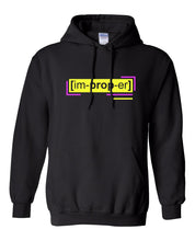 Load image into Gallery viewer, neon yellow florescent improper streetwear hoodie