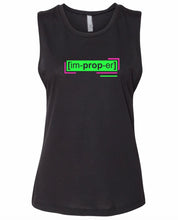 Load image into Gallery viewer, florescent green improper neon streetwear tank top for women