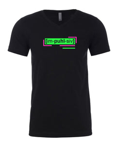 neon green florescent impulsive men's streetwear t shirt