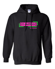 Load image into Gallery viewer, neon pink florescent impulsive streetwear hoodie
