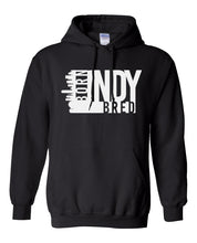 Load image into Gallery viewer, black Indianapolis born and bred hoodie