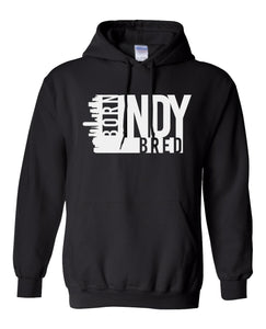 black Indianapolis born and bred hoodie