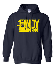 Load image into Gallery viewer, navy Indianapolis born and bred hoodie