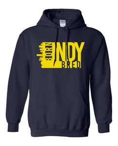 navy Indianapolis born and bred hoodie