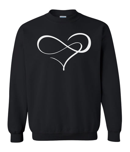 black endless love valentines day sweatshirt