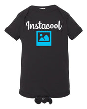 Load image into Gallery viewer, black insta cool baby onesie