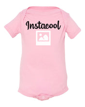 Load image into Gallery viewer, pink insta cool baby onesie