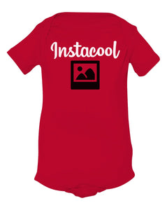 red insta cool baby onesie