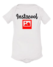 Load image into Gallery viewer, white insta cool baby onesie