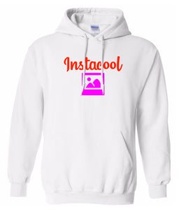 white Instacool pullover hoodie