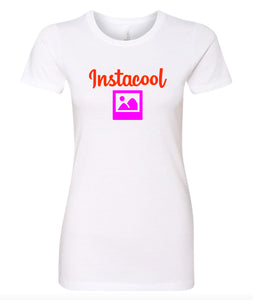white instacool women's crewneck t shirt