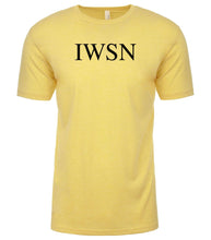 Load image into Gallery viewer, yellow iwsn mens crewneck t shirt