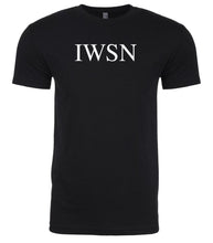Load image into Gallery viewer, black iwsn mens crewneck t shirt