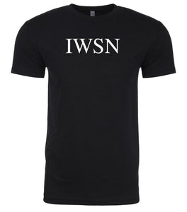 black iwsn mens crewneck t shirt