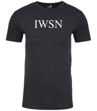 Load image into Gallery viewer, charcoal iwsn mens crewneck t shirt