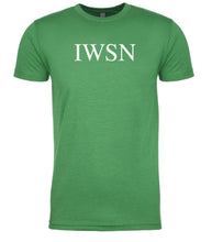 Load image into Gallery viewer, green iwsn mens crewneck t shirt