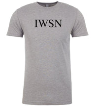 Load image into Gallery viewer, grey iwsn mens crewneck t shirt