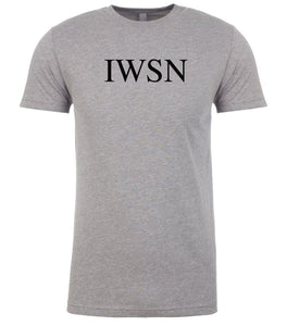 grey iwsn mens crewneck t shirt