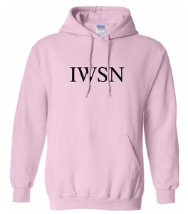 pink IWSN hooded sweatshirt for women