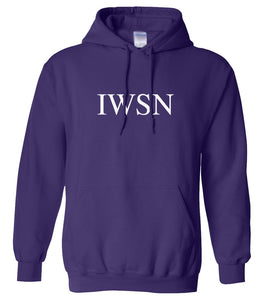 purple IWSN hooded sweatshirt for women