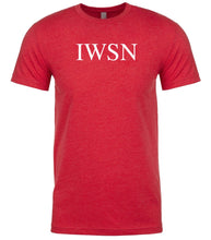 Load image into Gallery viewer, red iwsn mens crewneck t shirt