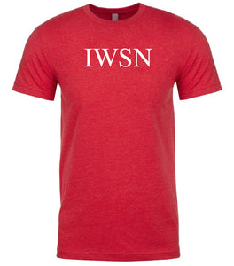 red iwsn mens crewneck t shirt