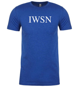 blue iwsn mens crewneck t shirt
