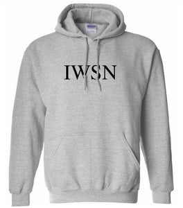 grey IWSN hooded sweatshirt for women