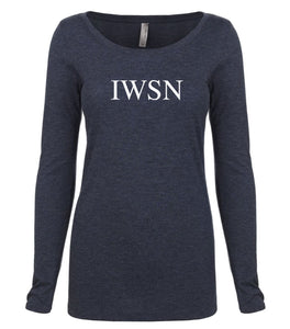 navy IWSN long sleeve scoop shirt for women