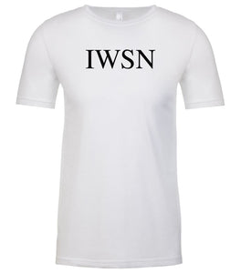 white iwsn mens crewneck t shirt