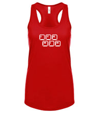 Load image into Gallery viewer, red IYKWIM racerback tank top for women