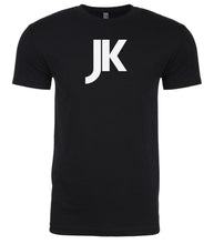 Load image into Gallery viewer, black jk mens crewneck t shirt