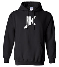 Load image into Gallery viewer, black jk mens pullover hoodie