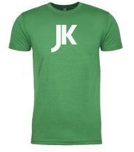 Load image into Gallery viewer, green jk mens crewneck t shirt