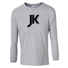 Load image into Gallery viewer, grey JK youth long sleeve t shirt for boys