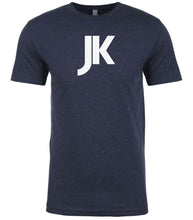 Load image into Gallery viewer, navy jk mens crewneck t shirt