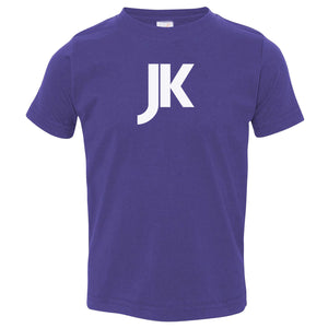 purple JK crewneck t shirt for toddlers