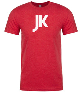 red jk mens crewneck t shirt