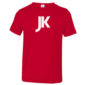 red JK crewneck t shirt for toddlers