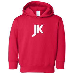 red JK hooded sweatshirt for toddlers