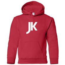 Load image into Gallery viewer, red JK youth hooded sweatshirt for boys