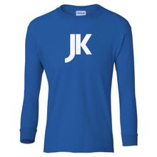 Load image into Gallery viewer, blue JK youth long sleeve t shirt for boys