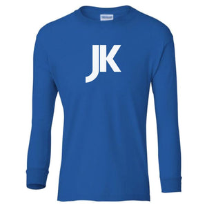 blue JK youth long sleeve t shirt for boys