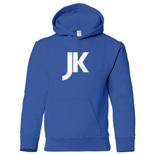Load image into Gallery viewer, blue JK youth hooded sweatshirt for boys