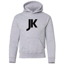 Load image into Gallery viewer, grey JK youth hooded sweatshirt for boys