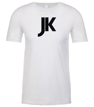 Load image into Gallery viewer, white jk mens crewneck t shirt